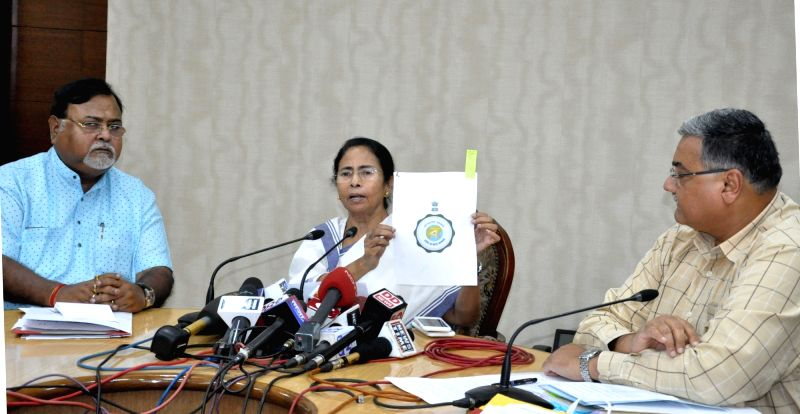 West Bengal Chief minister Mamata Banerjee launches West Bengal State Logo during a press conference at Nabanna in Howrah, on May 29, 2017. - Mamata Banerjee