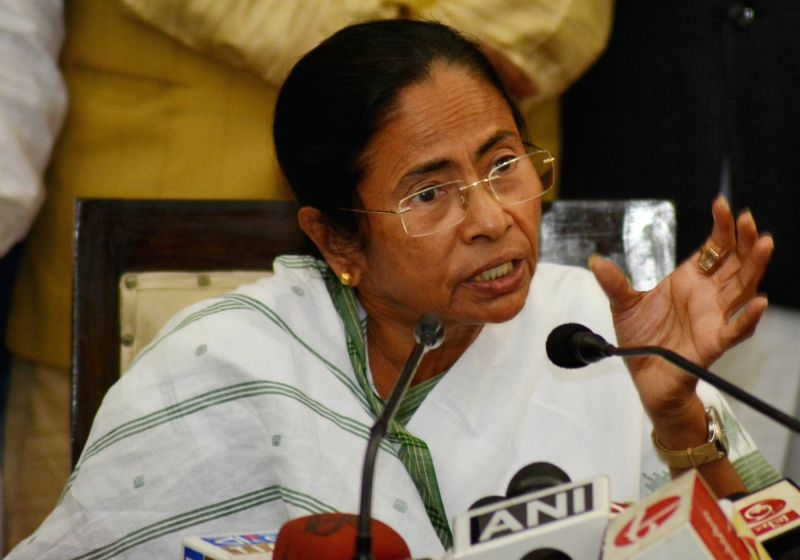 West Bengal Chief Minister Mamata Banerjee addresses a press conference at State Assembly in Kolkata on Jan 31, 2018. - Mamata Banerjee
