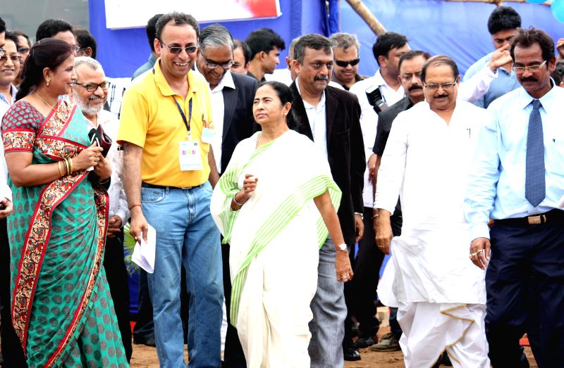 West Bengal Chief Minister Mamata Banerjee and West Bengal Panchayat Minister Subrata Mukherjee arrive to inaugurate OCL India's cement manufacturing plant in West Bengal's West Medinipur district on - Subrata Mukherjee