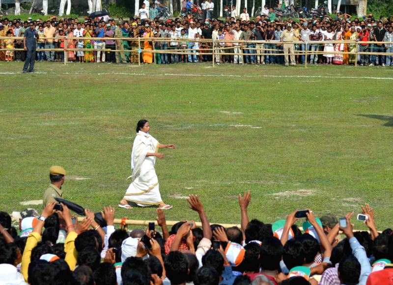 West Bengal Chief Minister Mamata Banerjee during campaigning in Alipurduar on April 12, 2014.