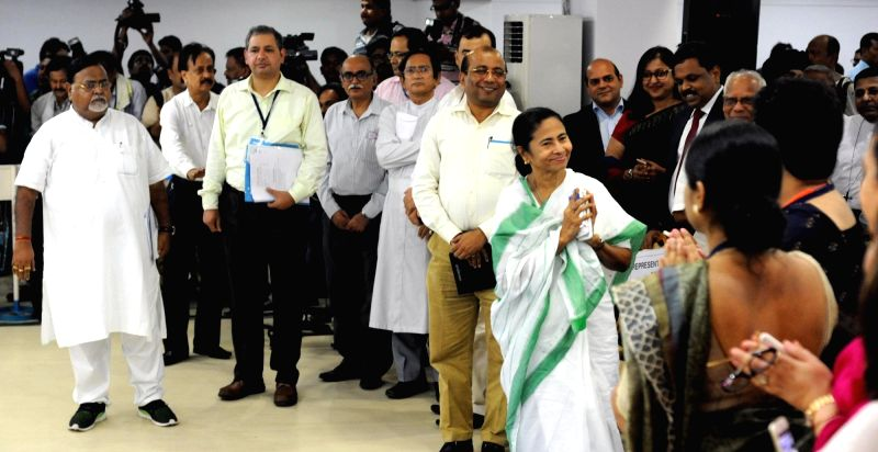 West Bengal Chief Minister Mamata Banerjee during a meeting with representatives of private educational institutions during an interactive session in Kolkata on May 31, 2017. - Mamata Banerjee