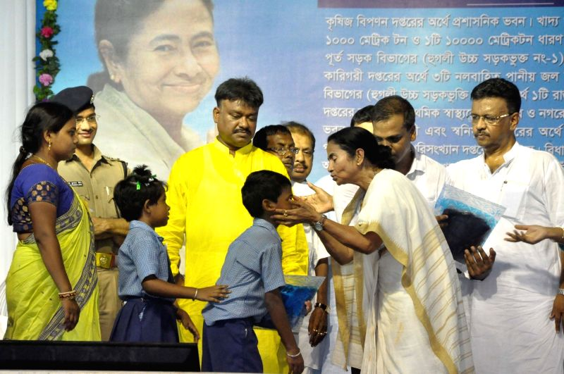 West Bengal Chief Minister Mamata Banerjee during a programme at Tarakeswar in state's Hooghly district on June 1, 2017. - Mamata Banerjee