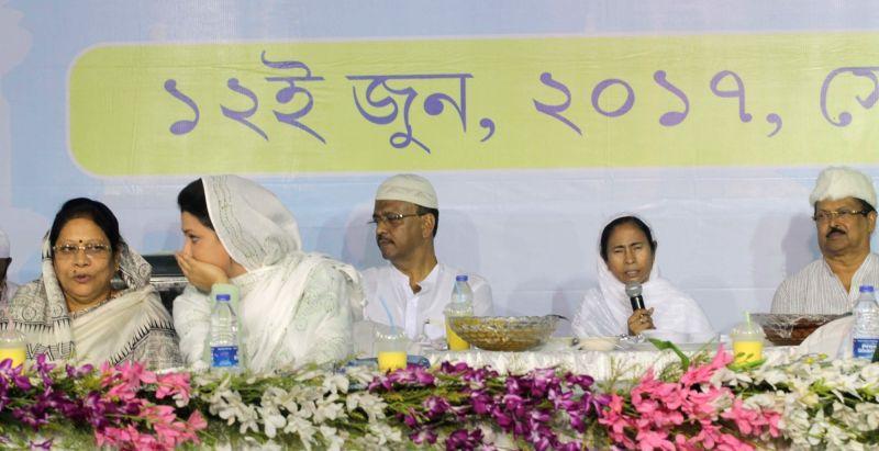 West Bengal Chief Minister Mamata Banerjee during an Iftar Party in Kolkata on June 12, 2017. - Mamata Banerjee