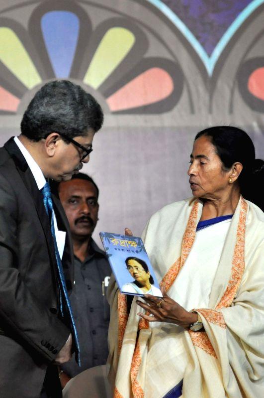 West Bengal Chief Minister Mamata Banerjee during the inauguration of 42nd International Kolkata Book Fair 2018 in Kolkata on Jan 30, 2018. - Mamata Banerjee
