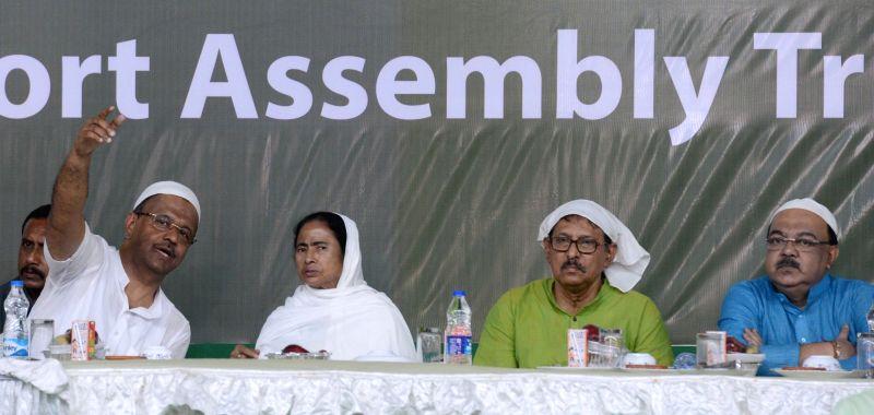 West Bengal Chief Minister Mamata Banerjee during an Iftar party in Kolkata on Jun 14, 2018. - Mamata Banerjee