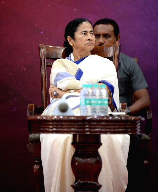 "West Bengal Chief Minister Mamata Banerjee during a conference on ""Love for Neighbour"", in New Delhi on July 31, 2018. - Mamata Banerjee"