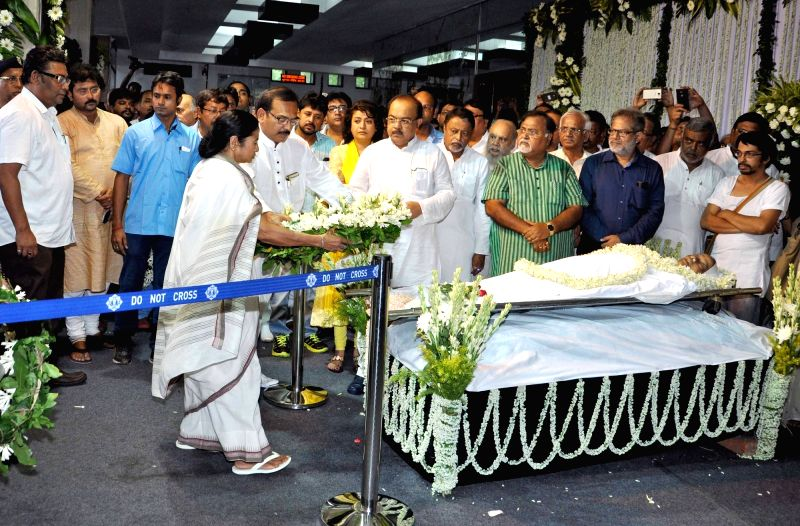 West Bengal Chief Minister Mamata Banerjee pays tribute to eminent writer and social activist Mahasweta Devi who passed away on 28th July following a cardiac arrest and multi-organ failure, ... - Mamata Banerjee