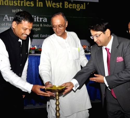 West Bengal Finance, Commerce and Industries Minister Amit Mitra during `Resurgence Industries in West Bengal` a programme organised by MCC Chamber of Commerce in Kolkata on July 12, 2014. - Amit Mitra