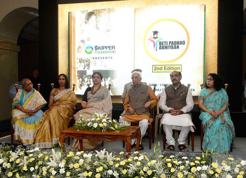 West Bengal Governor Keshari Nath Tripathi and dancer Tanusree Shankar during a Beti Padhao Abhiyaan programme at Raj Bhawan, in Kolkata on July 17, 2018. - Keshari Nath Tripathi