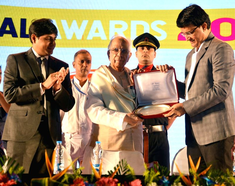 West Bengal Governor KN Tripathi, CAB President Sourav Ganguly, CAB Joint Secretary Abhishek Dalmiya during the CAB Annual Award ceremony in Kolkata on July 27, 2018. - Sourav Ganguly