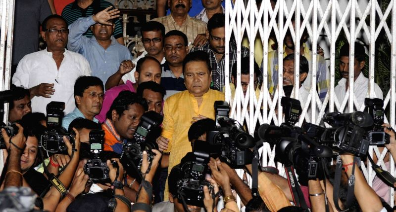West Bengal Minister Madan Mitra comes out of SSKM hospital after he was granted bail in Kolkata, on Nov 1, 2015.