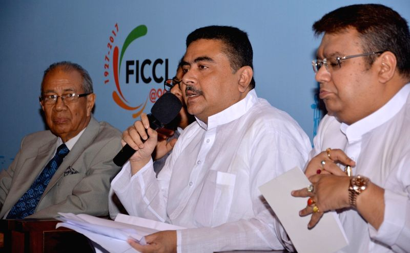 West Bengal Transport Minister Suvendu Adhikari and Transport Infrastructure Development Corporation Limited (WBTIDCL) chairman Dinesh Bajaj during a meeting with Stakeholders for ... - Suvendu Adhikari
