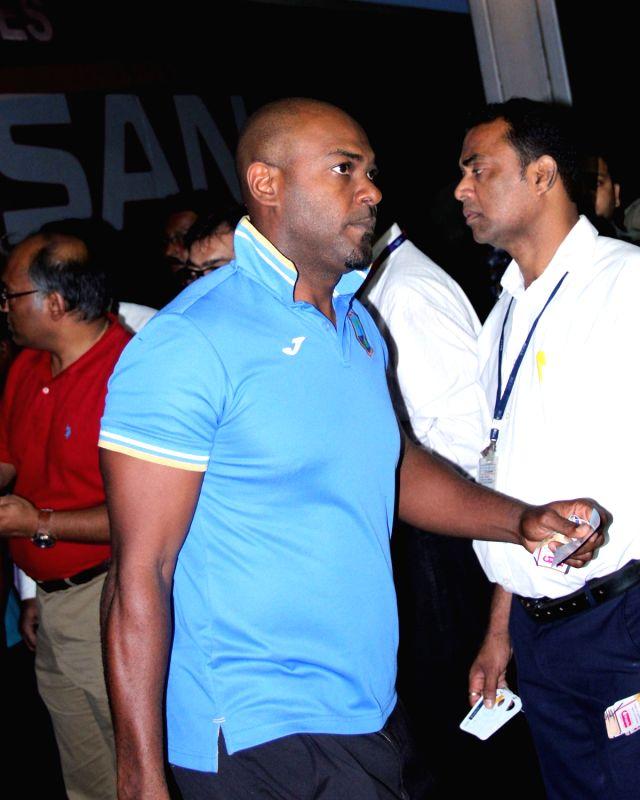 West Indies cricketers on their way back home at Netaji Subhas Chandra Bose International Airport in Kolkata, on April 4, 2016.