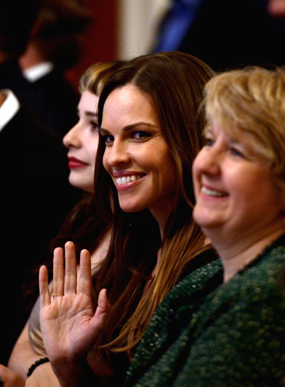 WHASHINGTON D.C., March 20, 2015 Actresses Hilary Swank attends the second-annual White House Student Film Festival in the East Room of the White House in Washington D.C., the United ... - Hilary Swank