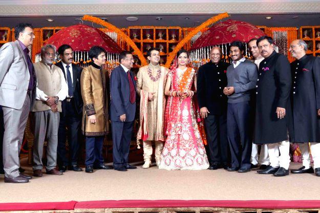 Wife of Mysore scion Srikantadatta Narasimharaja Wodeyar, Pramoda Devi during his last rites in Mysore Palace in Mysore on Dec.11, 2013. Wodeyar died 10th Dec due to a heart attack.