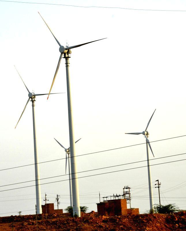 Wind Mills in Jaisalmer. (File Photo: Ravi Shankar Vyas/IANS)
