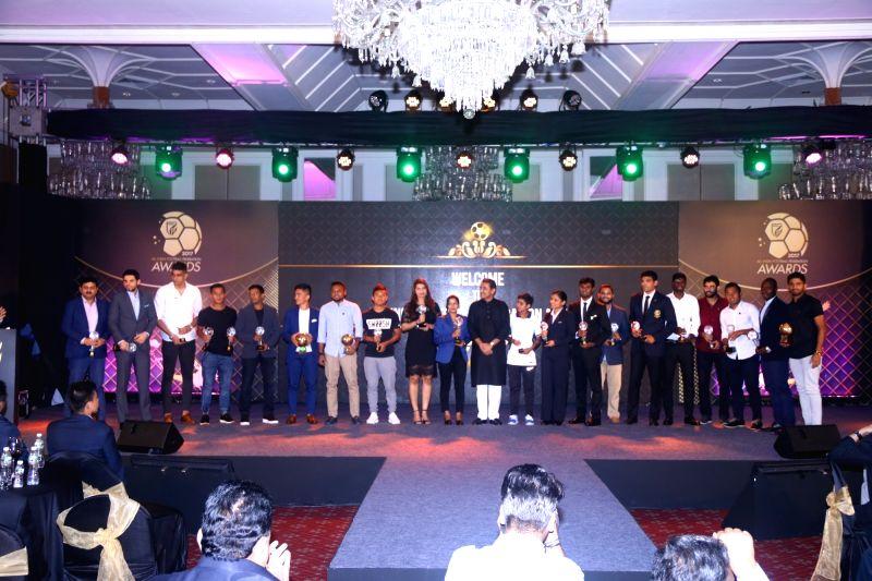 Winners of AIFF Awards 2017 in Mumbai on June 8, 2017.