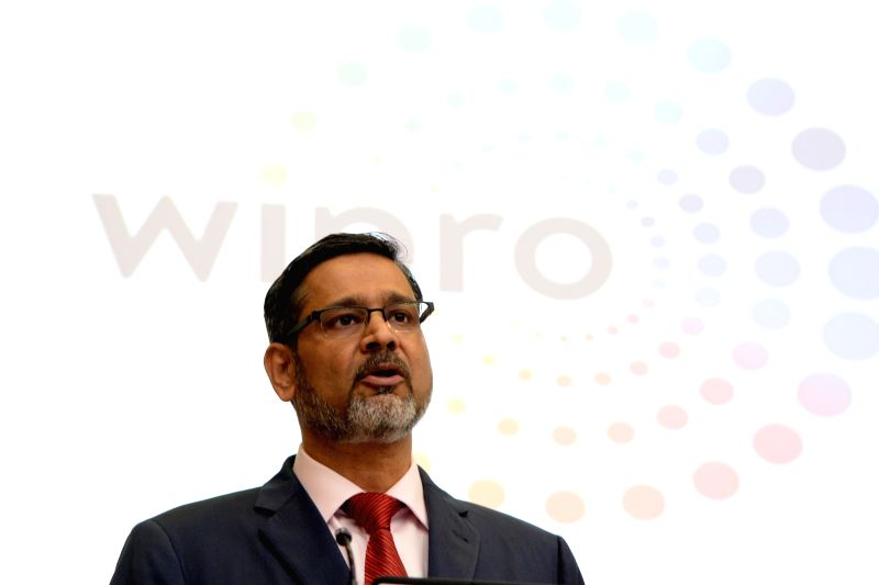 Wipro CEO Abidali Z. Neemuchwala during a press conference organised to announce Q1 financial results of FY 2018-19 in Bengaluru, on July 20, 2018.