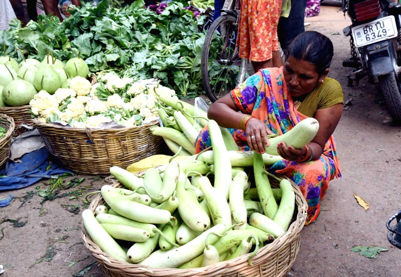 Women busy shopping for vegetables to prepare 'prasad' ahead of Chhath Puja celebrations