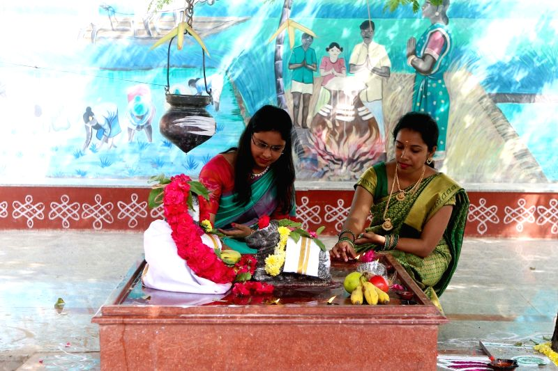 Rituals during Pongal celebrations