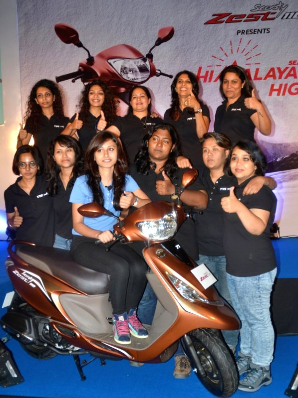 Women riders during a press conference organised to announce the Himalayan Highs Season 2 ride to Khardung La, in Bengaluru, on Aug 8, 2016.