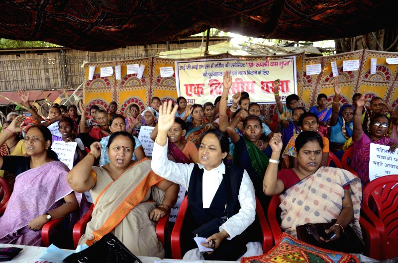 Women stage a demonstration against atrocities against women in Patna on Sept 4, 2014.