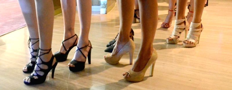 Women wearing high heels