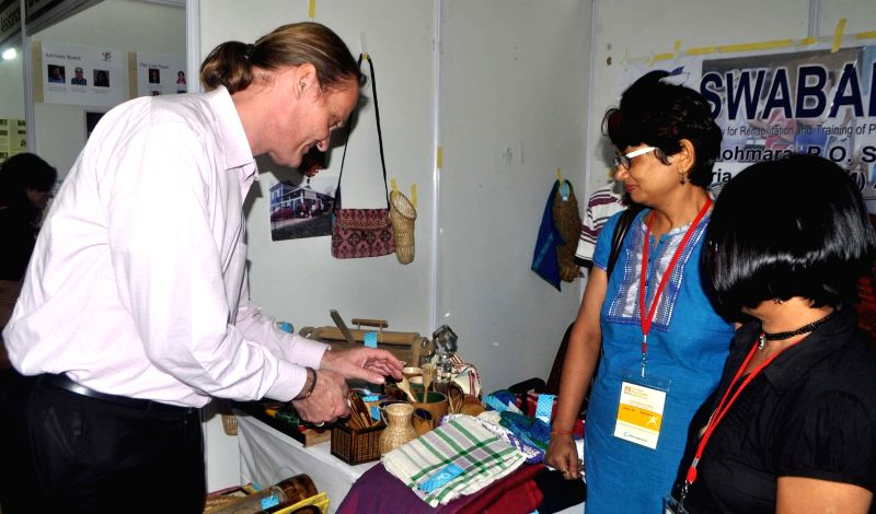 World Bank Country Director in India Onno Ruhl during his visit to an exhibition organised in Guwahati on June 19, 2014.