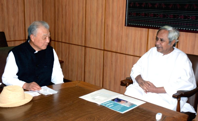 World Health Organization Goodwill Ambassador for Leprosy Elimination and Nippon Foundation chairman Yohei Sasakawa meets Odisha Chief Minister Naveen Patnaik in Bhubaneswar on March 20, ... - Naveen Patnaik