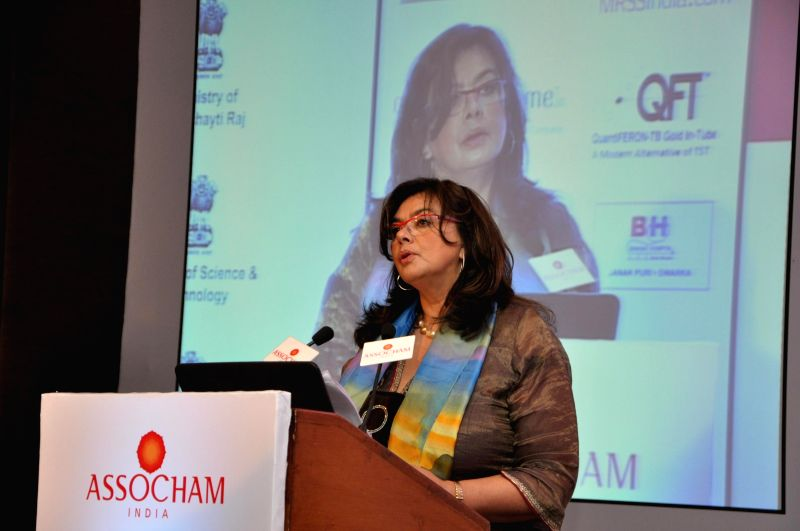 World Health Organization (WHO) Representative to India, Nata Menabde addresses during a ASSOCHAM Tuberculosis Awareness, Prevention and Wellness Programme in New Delhi on Aug 6, 2014.