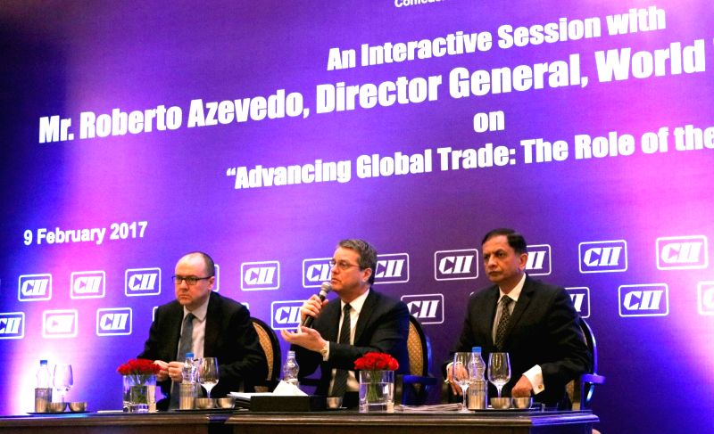 World Trade Organisation (WTO) Roberto Azevedo during an interactive session on Advancing Global Trade: The Role of the WTO in New Delhi, on Feb 9, 2017.