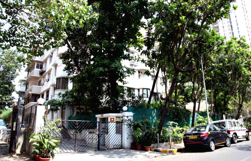 Worli home of former media barons, Peter Mukerjea and his wife Indrani that was raided by CBI as a part of its raids on the premises of former Union Minister P. Chidambaram and his son Karti ... - P. Chidambaram