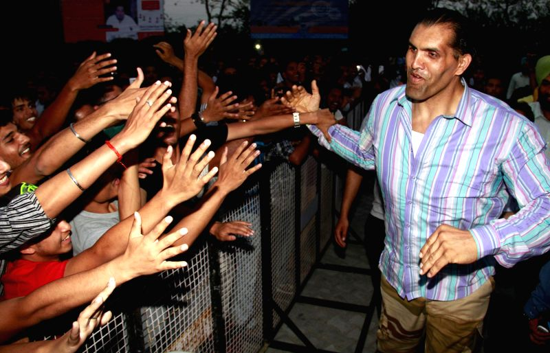 Wrestler Dalip Singh Rana also known as The Great Khali during a programme in Jalandhar  on May 17, 2014. - Dalip Singh Rana