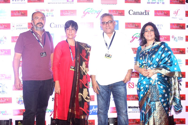 Writer Aseem Chhabra, Editor Jabeen Merchant, actress Lubna Salim during the eighth edition of Kashish Mumbai International Queer Film Festival that kicked-off in Mumbai with 147 movies from ... - Lubna Salim