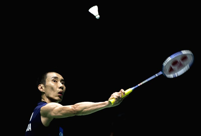 WUHAN, April 29, 2017 - Lee Chong Wei of Malaysia competes during the men's singles semifinal match against Lin Dan of China at the Badminton Asia Championships 2017 in Wuhan, capital of central ...