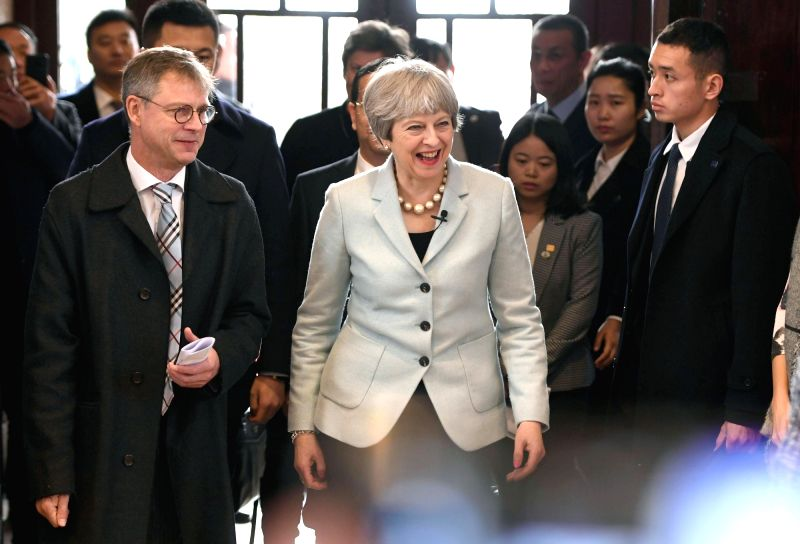 WUHAN, Jan. 31, 2018 - British Prime Minister Theresa May visits the Wuhan University in Wuhan, central China's Hubei Province, Jan. 31, 2018. - Theresa May