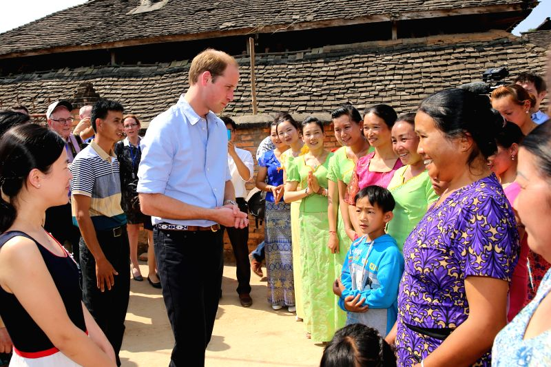 Britain's Prince William visits Mengman Village in Xishuangbanna Dai Autonomous Region, southwest China's Yunnan Province, March 4, 2015.