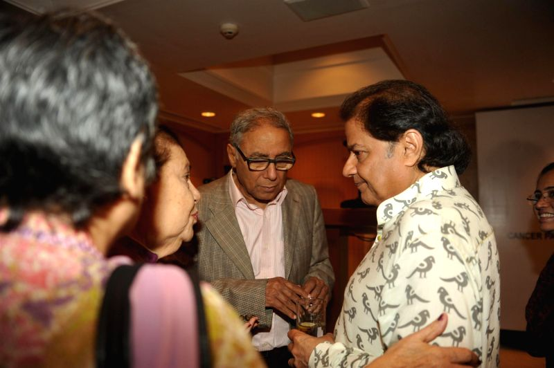 Y K Sapru, founder chairman and CEO, Cancer Patients Aid Association during a press conference organised to announce `The Festival of Ghazal` in Mumbai on July 23, 2014.