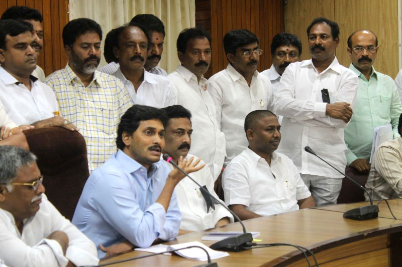 Y S R Congress chief YS Jaganmohan Reddy during a press conference in Hyderabad on Aug 26, 2014.