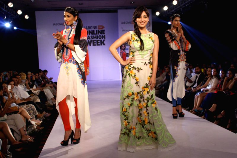 Yami Gautam at the grand Finale of Jabong Online Fashion Week, in New Delhi on July 30, 2014. (Photo : Amlan Paliwal/IANS)