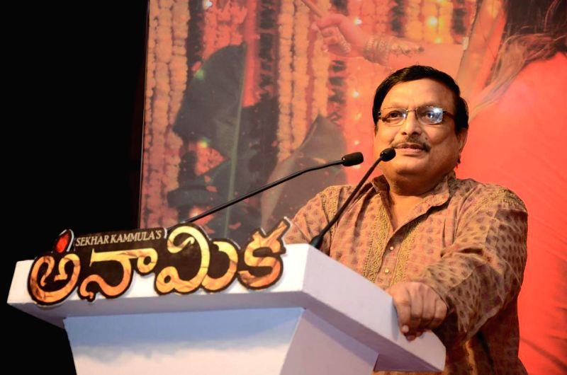 Yandamuri Veerendranath during the launch of telugu film Anamika audio release function held at Hyderabad