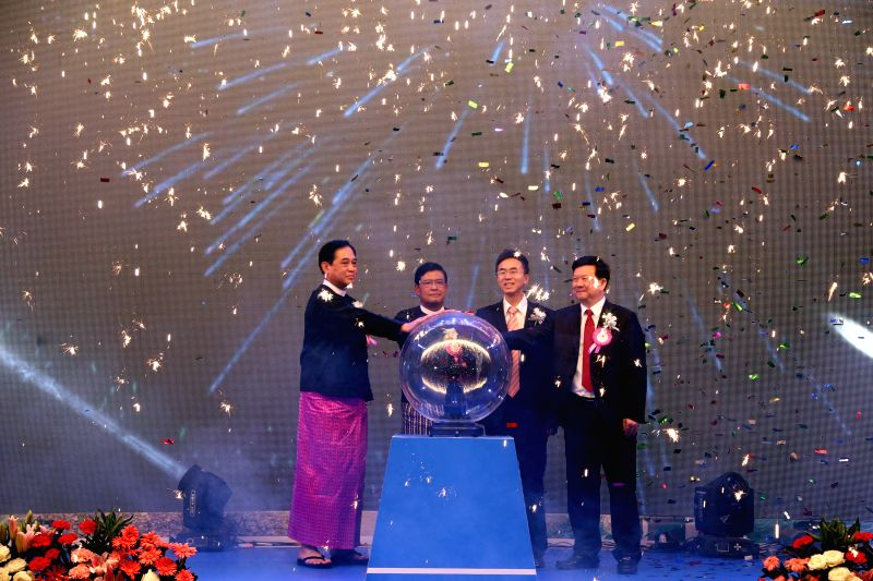 Myanmar Vice President U Nyan Tun (2nd, L), Myanmar Energy Minister U Zay Ya Aung(L), General Manager of the China National Petroleum Corporation (CNPC) Liao ... - U Zay Y