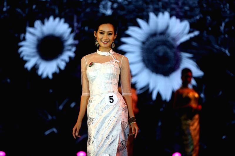 YANGON, June 12, 2018 - A contestant participates in Miss Myanmar International 2018 in Yangon, Myanmar, on June 12, 2018.