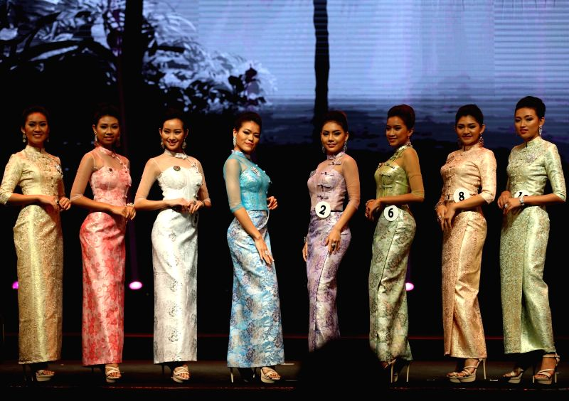 YANGON, June 12, 2018 - Contestants participate in Miss Myanmar International 2018 in Yangon, Myanmar, on June 12, 2018.