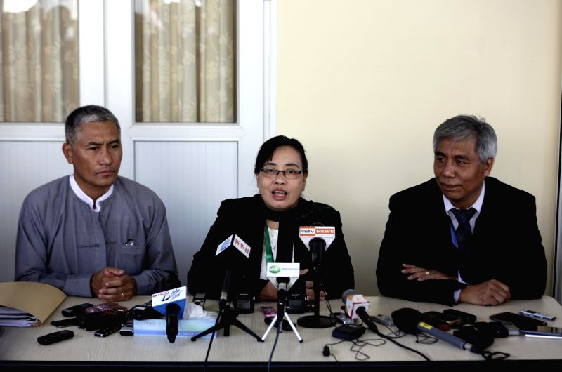 Members of Myanmar government's Union Peace-Making Work Committee (UPWC) and the ethnic armed groups' National Ceasefire Coordination Team (NCCT) attend a joint ...