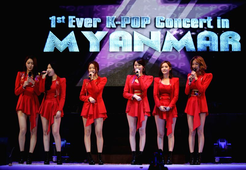 K-Pop stars perform at Thuwunna Indoor Stadium in a bid to strengthen the mutual friendship and boost cultural exchange between South Korea and Myanmar in Myanmar's ...