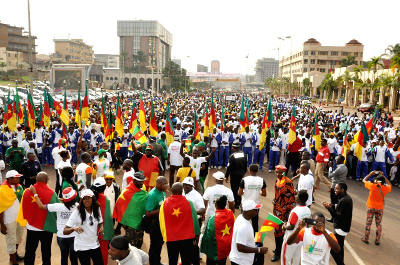 Thousands of Cameroonians take part in a march to support Cameroonian army in its fight against Nigerian Islamic sect Boko Haram which wreaks havoc in the northern ...
