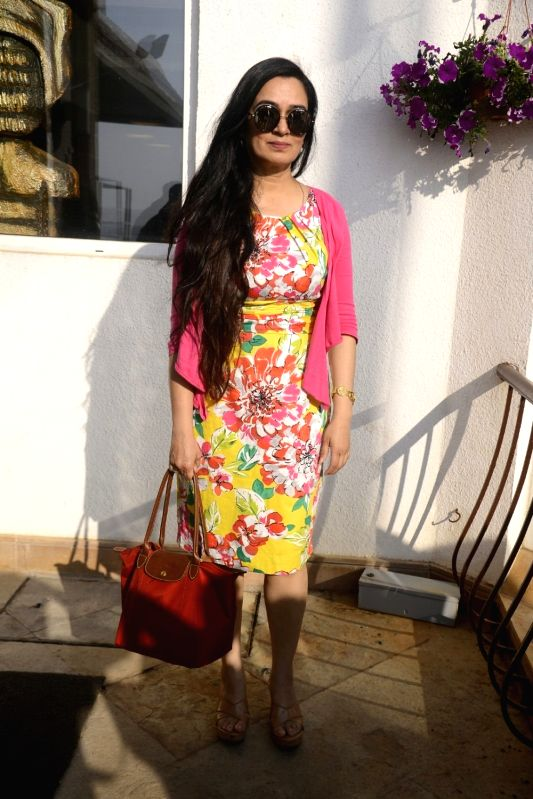 Yash Chopra Memorial Award jury member -  actress Padmini Kolhapure arrives to attend a press conference to announce the winner of the prestigious award in Mumbai on Jan 28, 2018. Bollywood ... - Padmini Kolhapure and Asha Bhosle