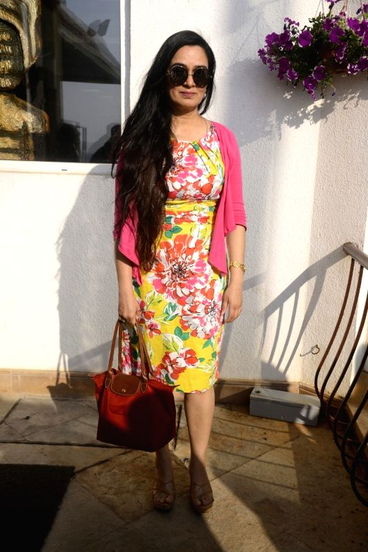 Yash Chopra Memorial Award jury member -  actress Padmini Kolhapure arrives to attend a press conference to announce the winner of the prestigious award in Mumbai on Jan 28, 2018. Bollywood ... - Padmini Kolhapure and Asha Bhosle