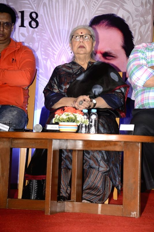 Yash Chopra Memorial Award jury member -  script writer Honey Irani during a press conference to announce the winner of the prestigious award in Mumbai on Jan 28, 2018. Bollywood playback ... - Asha Bhosle and Irani